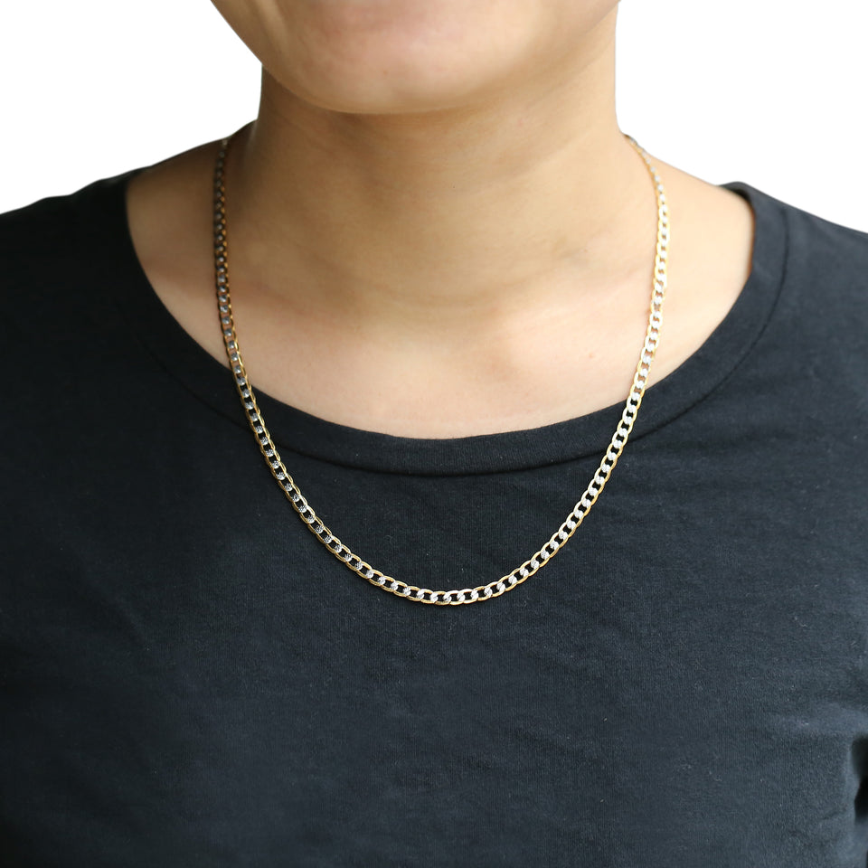 Gold Chain Necklace for Men or Women Cuban Link Chains Mens /Womens Necklaces - SSStyleN.com