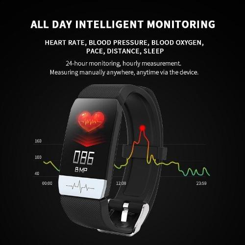 2020 Fitness Tracker T1 ECG+PPG Body Temperature Waterproof Heart Rate Monitor Smart Band Weather Forecast Smart Bracelet Sport - SSStyleN.com