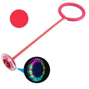 Flash Jumping Rope Ball Kids Outdoor Fun Sports Toy LED Children Jumping Force Reaction Training Swing Ball Toys Games - SSStyleN.com