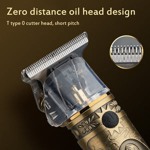 Rechargeable Retro Oil Hair Trimmer T9 Upgraded Electric Hair Clipper Men's Cordless Haircut Adjustable Ceramic Blade - SSStyleN.com