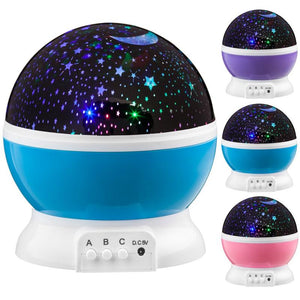 Starry Sky Night Lamp Lovely Rotating LED Projector Novelty Luminous Toy Romantic Starry Night Light Up Toys Party Baby Kid Gift - SSStyleN.com