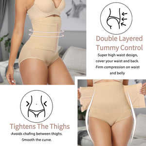 Women High Waist Panties Waist Trainer Slimming Underwear Body Shapewear Tummy Control Butt Lift Pulling Corset Reducing Shaper - SSStyleN.com