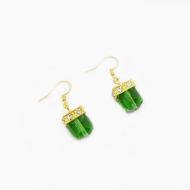 Milangirl Vintage green Zircon Dangle Earrings for Women Wedding Drop Crystal Earrings - SSStyleN.com
