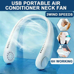 Air Conditioner Neck Cooling Fan - SSStyleN.com