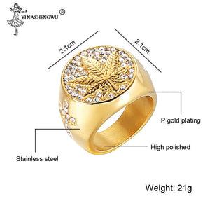 Micro Paved Stainless Steel Rhinestone Ring - SSStyleN.com