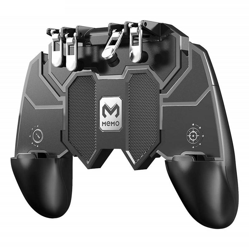 H9 Cooling Fan PUBG Game Controller Gamepad Joystick Six Finger Trigger Shooting Fire Mobile Playstation Mando For Android IOS - SSStyleN.com