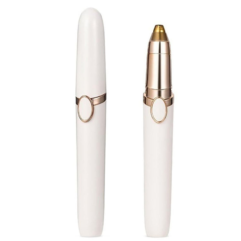 Pen Shape Stainless Steel Electric Eyebrow Trimmer Shaver Hair Remover Multifunctional Cheek Mini Painless - SSStyleN.com