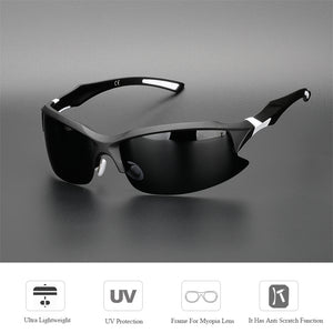 COMAXSUN Professional Polarized Cycling Glasses Bike Bicycle Goggles Driving Fishing Outdoor Sports Sunglasses UV 400 Tr90 - SSStyleN.com