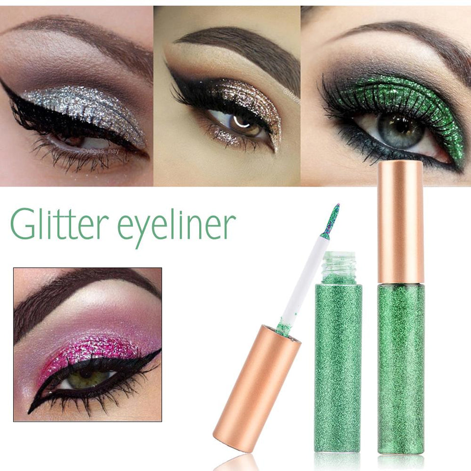 Colorful Glitter Eyeliner--Waterproof Shimmer Pigment 10 Pieces! - SSStyleN.com