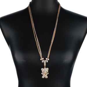 Szelam Long Gold/Silver Plated Vintage Rhinestone Necklaces & Pendants - SSStyleN.com