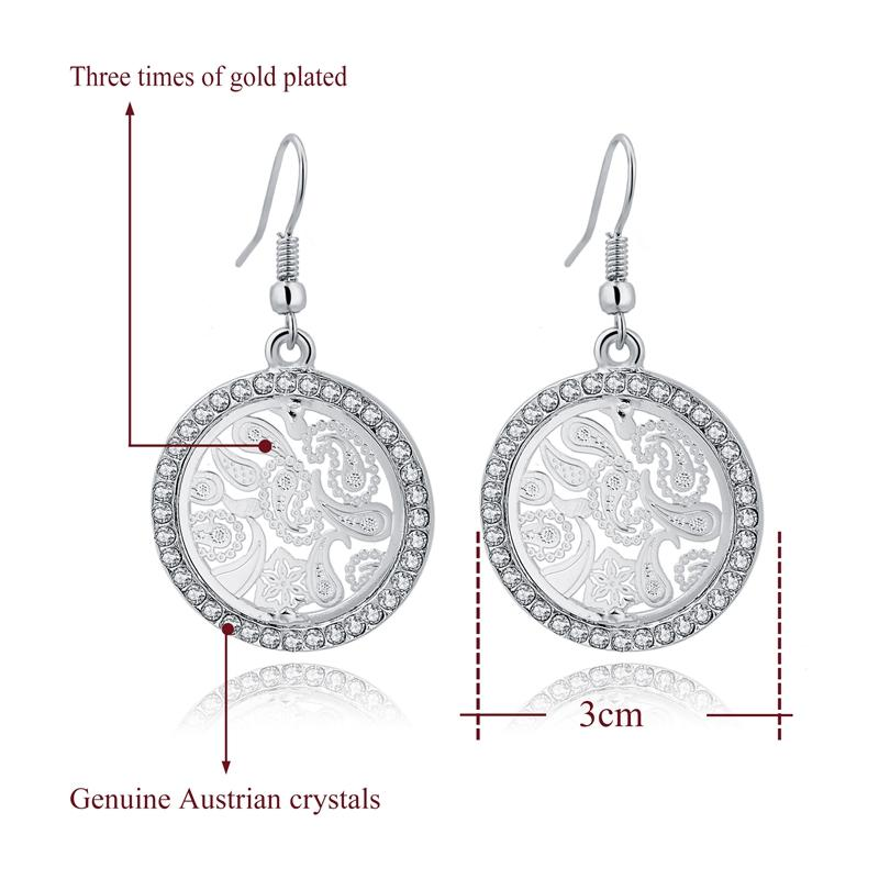 Szelam Austrian Crystal Big Dangle Earrings - SSStyleN.com