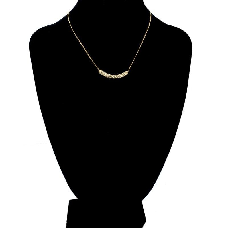 Szelam Gold Color Choker Necklace With Paved Micro Austrian Crystal - SSStyleN.com