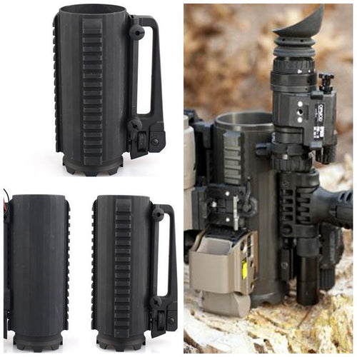 Tactical Mug Cup Muiti Function Aluminum Allowy Handled Detachable Portable Water Beer Coffee Drinking Cup Outdoor Camping Mugs - SSStyleN.com
