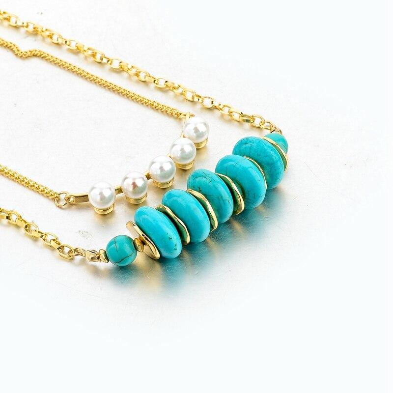 Szelam Bohemian Multilayer Natural Stone Necklace - SSStyleN.com
