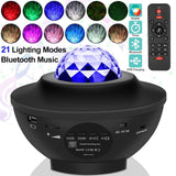 Star Night Light Music Starry Water Wave LED Projector Light Bluetooth Projector Sound-Activated Projector Light Decor - SSStyleN.com