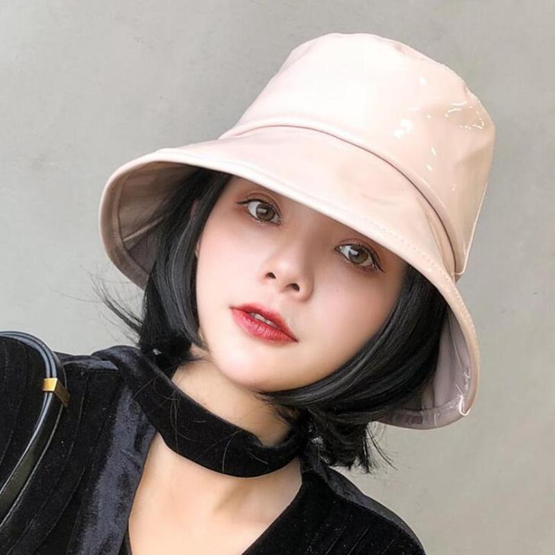 Women Hiphop Reversible Bucket PU leather Hat Caps-NEW & On Sale! - SSStyleN.com