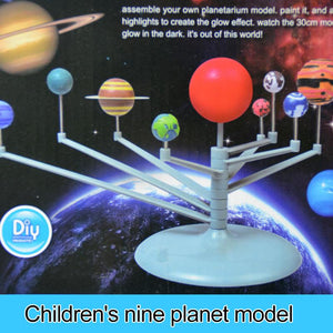 DIY Solar System Model Toys For Child Science And Technology Learning Solar System Planet Assembly Coloring Educational Toy - SSStyleN.com