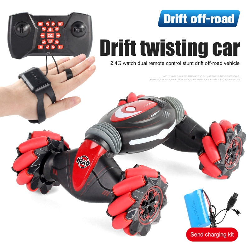 Remote Control Stunt Car Gesture Induction One-Key Deformation-Off-Road Vehicle Twisting Drift Side Driving - SSStyleN.com