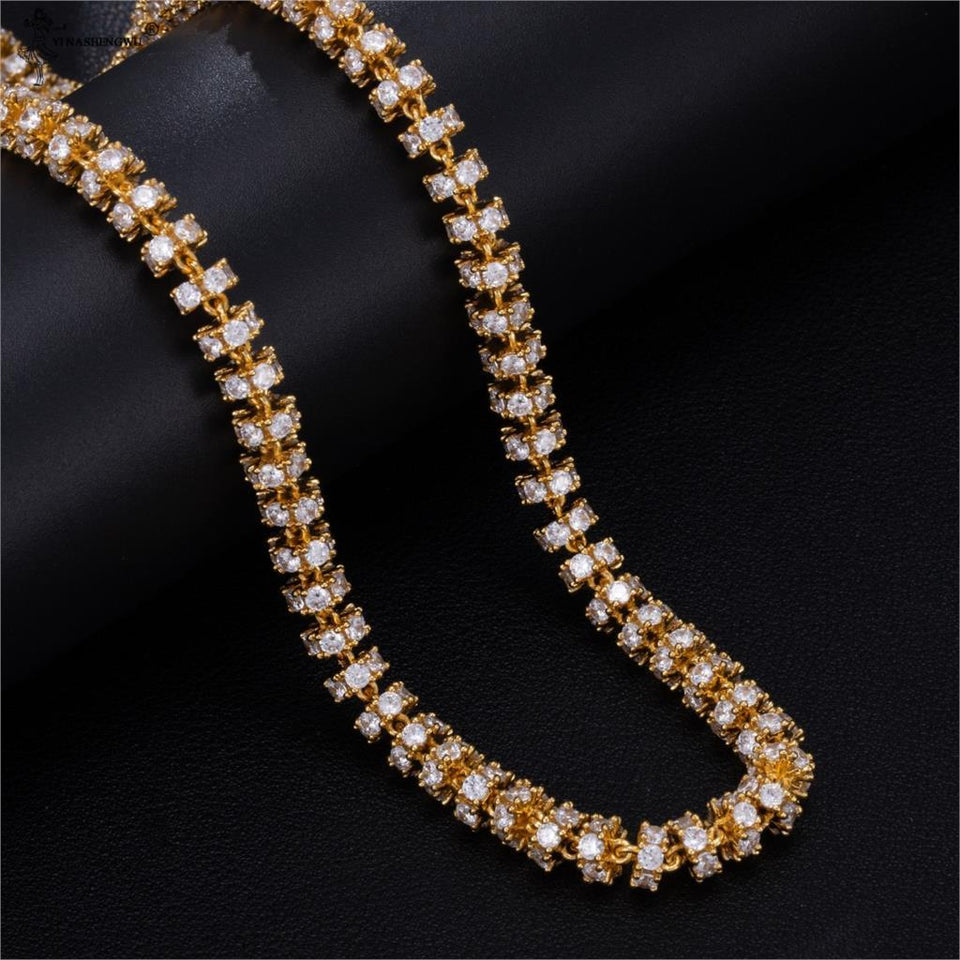 AAA CZ Cubic Zirconia Round Link Chain Bracelets For Men Women Jewelry 6 mm 8 inch Fine Pulsera - SSStyleN.com