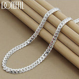 DOTEFFIL 925 Sterling Silver 6MM Full Sideways Necklace 20 Inch Chain For Woman/Men Fashion - SSStyleN.com