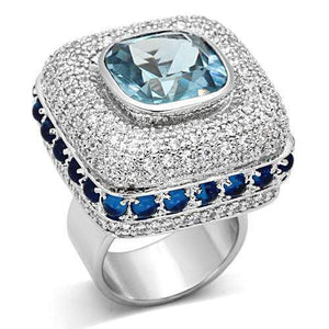 London Blue Rhodium Ring - SSStyleN.com