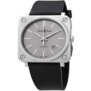 Bell & Ross Aviation Instruments BR S-92 GREY MATTE Mens Automatic Watch BRS92-GR-ST/SRB - SSStyleN.com