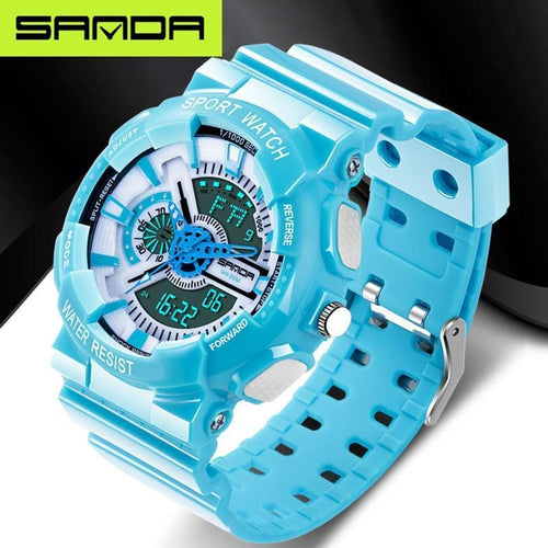 SANDA fashion watches men's LED digital watches G watches waterproof sports military watches relojes hombre - SSStyleN.com