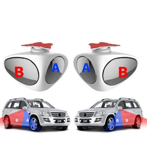 2 in 1 Car Blind Spot Mirror Wide Angle Mirror View front wheel Car mirror 360 Rotation Adjustable Convex Rear View Mirror - SSStyleN.com