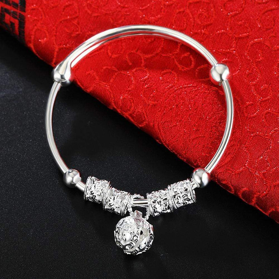 Baby And Mommy Bell Bangle Silver Color Adjustable Bangles Fashion Luxury Jewelry Women Kids Jewellery Baby Bracelet Classic D30 - SSStyleN.com
