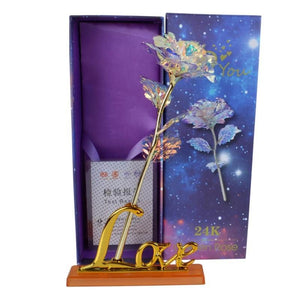 Valentine's Day Creative Gift 24K Foil Plated Rose - SSStyleN.com