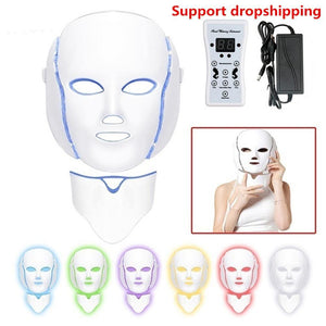 Led Facial Mask Photon Electric LED Mask with Neck Light Therapy Beauty Treatment Salon Home Use Skin Care Tools - SSStyleN.com