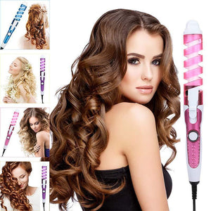 Professional Hair Curler With Free Gift Magic Spiral Curling Iron Fast Heating Curling Wand Electric Hair Styling Tool For Women - SSStyleN.com