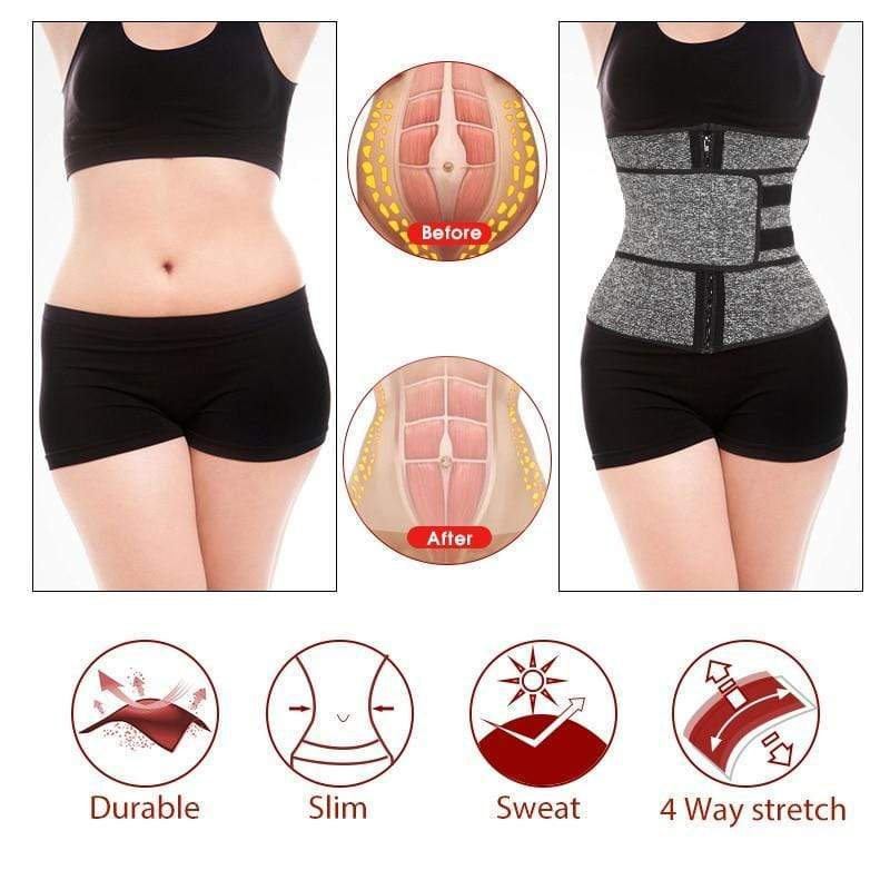 Sauna Waist Trainer Corset Sweat Belt for Women Weight Loss Compression - SSStyleN.com