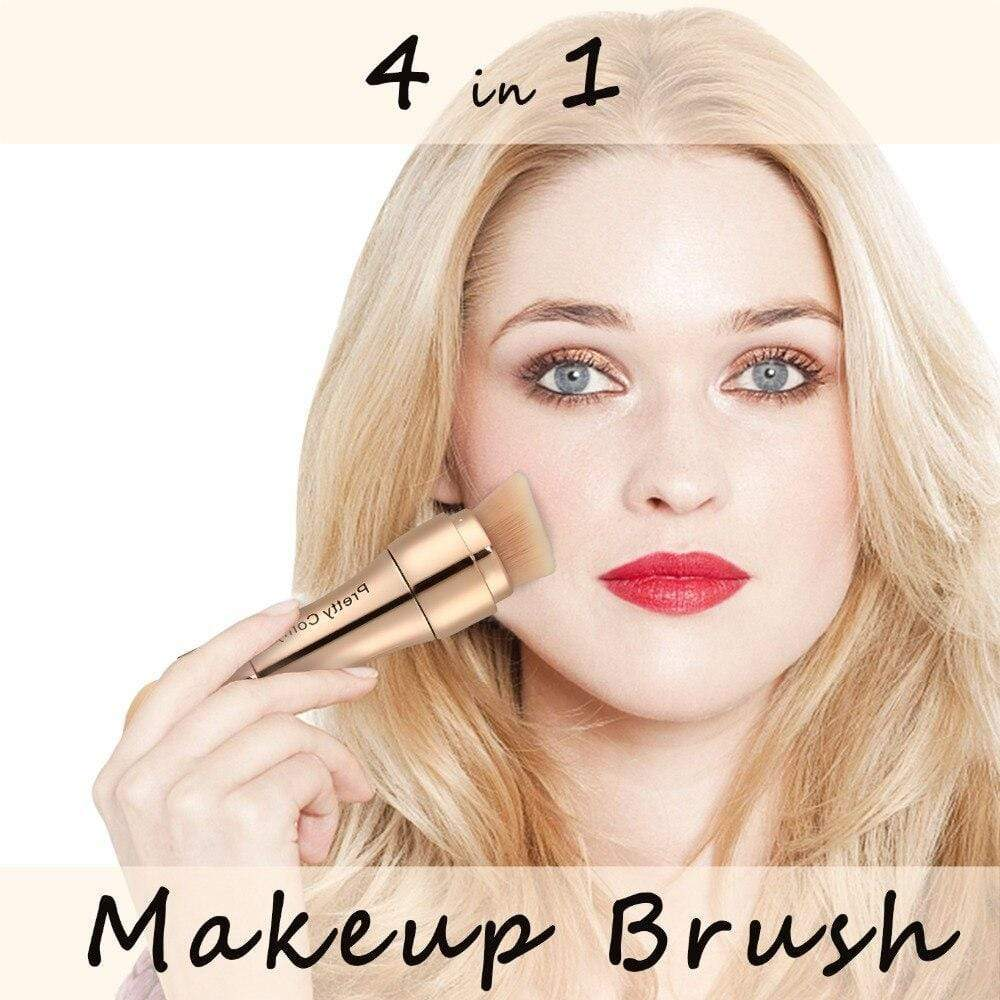 4 in 1 Makeup Brushes Foundation Eyebrow Shadow Eyeliner Blush Powder Brush Cosmetic Concealer Professional Make Up Tools - SSStyleN.com