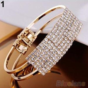 New Elegant Women Bangle Wristband Crystal Bracelet Cuff Bling Lady Gift Bracelets & Bangles - SSStyleN.com