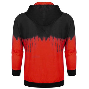 Mens Hoodies Splicing Tie Dyeing Pullover Long Sleeve Streetwear Hip Hop Hoodie Men Tops Harajuku Sweatshirt - SSStyleN.com