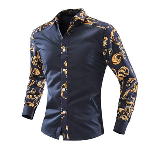 Sales Leader Men's Brand Dresses Summer Fashion blouse Shirt Men's Tops Short Sleeve Print Series Products Tommi - SSStyleN.com