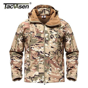 TACVASEN Army Camouflage Airsoft Jacket Men Military Tactical Jacket Winter Waterproof Softshell Jacket Windbreaker Hunt Clothes - SSStyleN.com