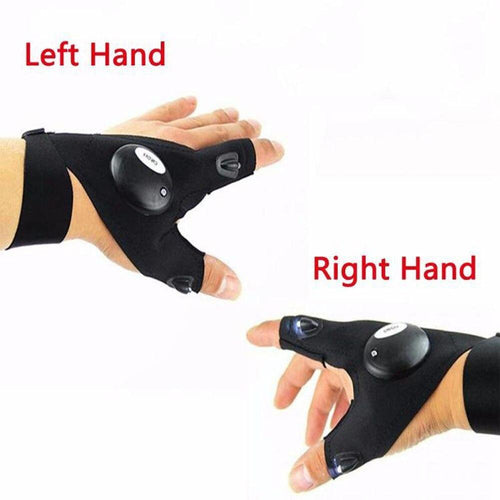 CARPRIE 2019 Car Bike Tire Repair Tool Night Fishing Glove With LED Light Rescue Tools Outdoor Gear Magic Strap Fingerless Glove - SSStyleN.com