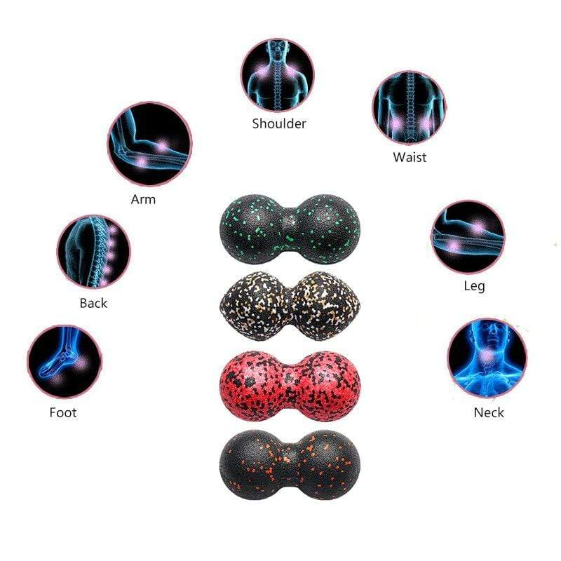 High Density EPP Fitness Peanut Massage Ball Lightweight Fitness Body Fascia Lacrosse Training Gym Relaxing Exercise Equipment - SSStyleN.com