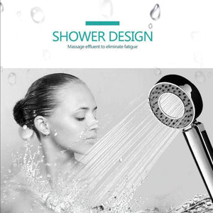 Double-Sided HandHeld Shower Head Bathroom Water Saving Pressure Energy Douche Mount Head With Shower Sower Gel - SSStyleN.com