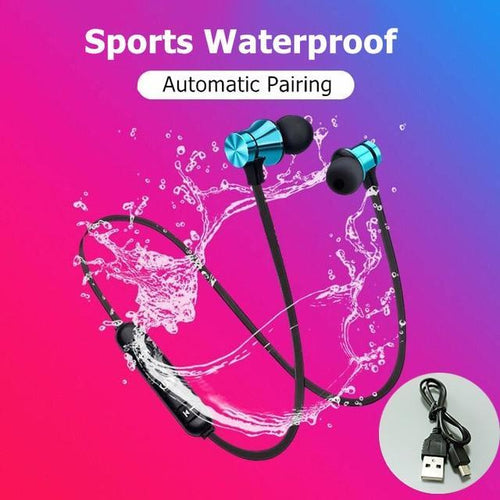 Magnetic Wireless bluetooth Earphone XT11 music headset Phone Neckband sport Earbuds Earphone with Mic For iPhone Samsung Xiaomi - SSStyleN.com
