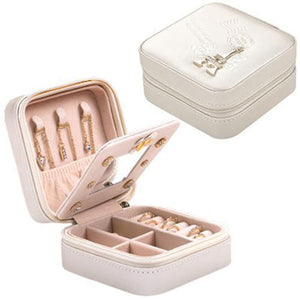 Jewelry Box Travel Comestic Jewelry Casket Organizer Makeup Lipstick Storage Box Beauty Container Necklace Birthday Gift - SSStyleN.com