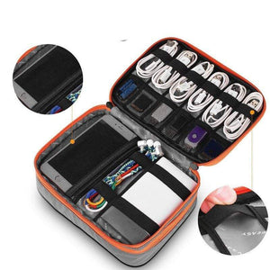 Multi-function Travel Digital Storage Bag Mobile Power Headset U Disk Data Cable Storage Bag Cable Bag USB Gadget Organizer - SSStyleN.com