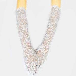 DRESSY FLORAL LACE LONG WEDDING GLOVES - SSStyleN.com