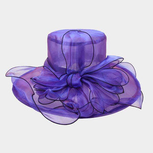 ORGANZA ADJUSTABLE BAND FLOPPY HAT - SSStyleN.com