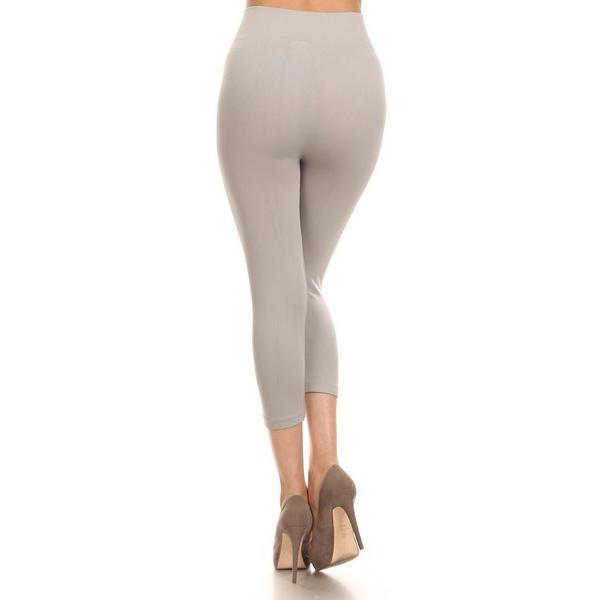 SOLID HIGH WAIST LEGGINGS - SSStyleN.com