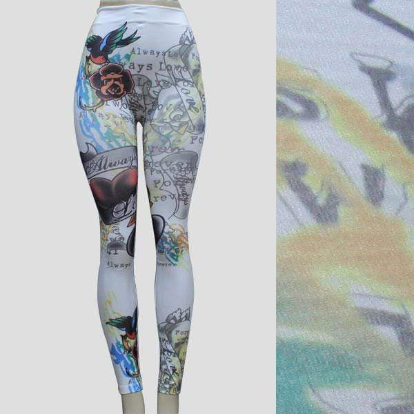 Tattoo Colorful Leggings - SSStyleN.com
