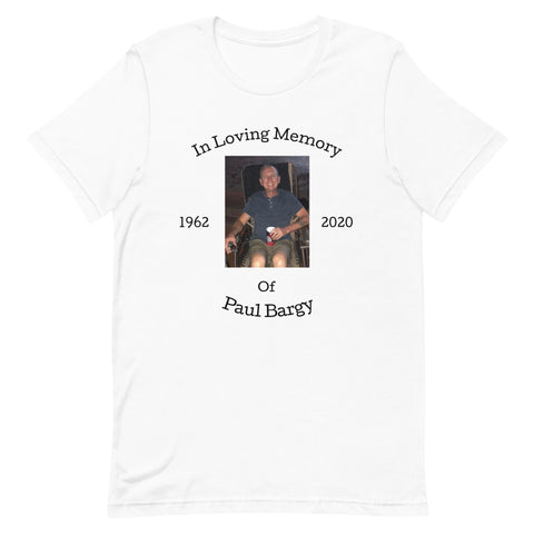 Image of Paul Bargy Celebration Of Life-Tee Shirt-Freedom Wear 1776