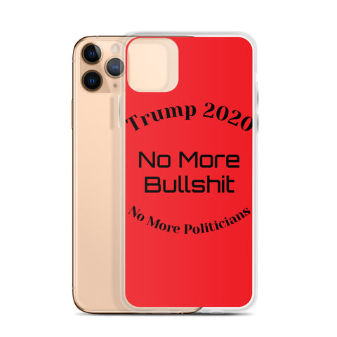 Trump No More Bullshit Red iPhone Case-iPhone Case-Freedom Wear 1776
